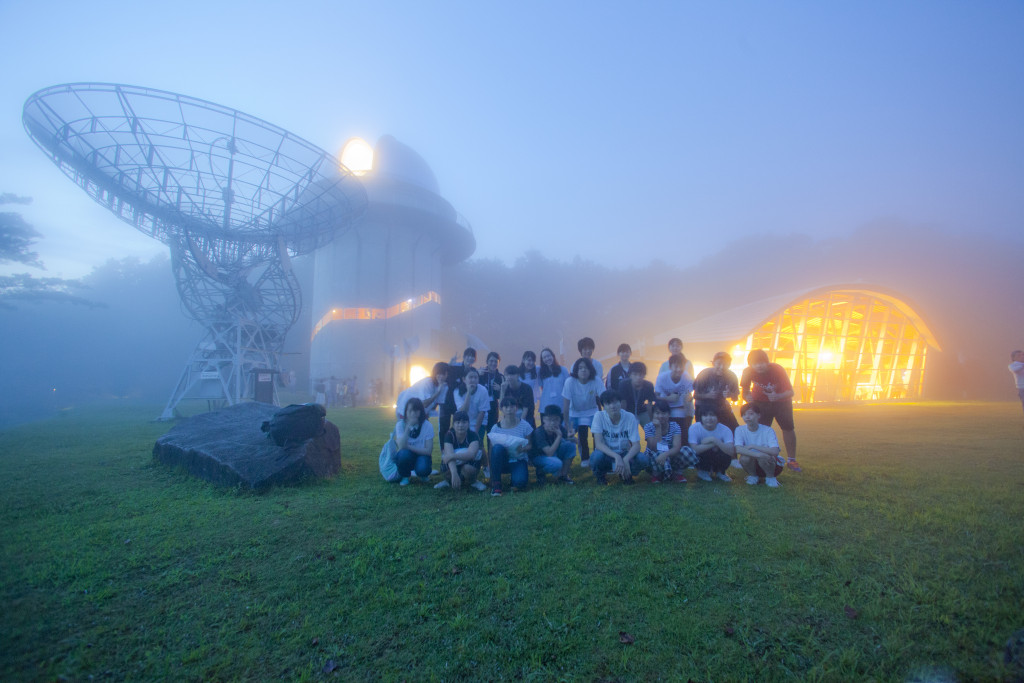霧の中の記念撮影