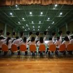 貴志川中学校での生徒発表