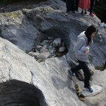 ジオパークな授業「甌穴探求」